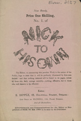 Advert For 'Nick To His Own', Comic
